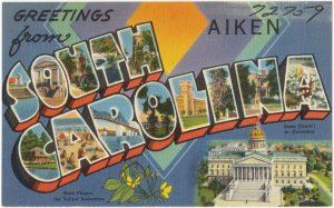 A vintage South Carolina postcard