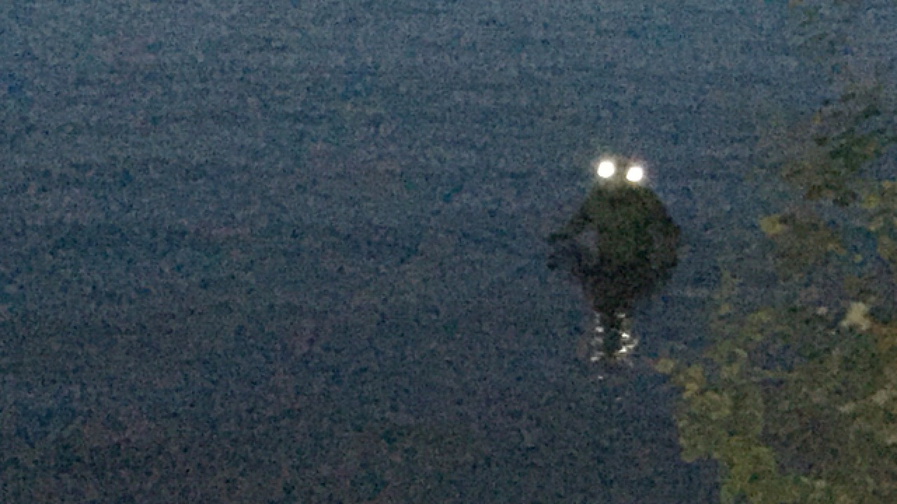 the loveland frogman peeks above water